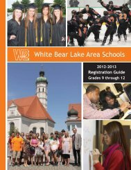 High School Registration Guide - White Bear Lake Area Schools