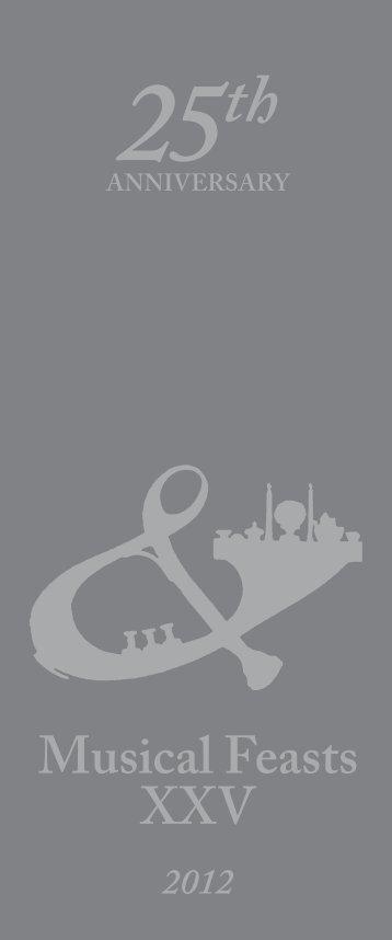 Musical Feasts XXV — 2012 - Detroit Symphony Orchestra