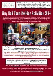 May Half Term Events Publicity 2014 FINAL