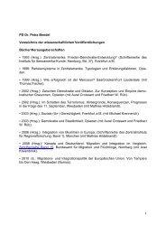 1 PD Dr. Petra Bendel Verzeichnis der wissenschaftlichen ...