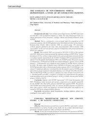 The eTioloGy of non-cirrhoTic porTal hyperTension. a - Clujul Medical
