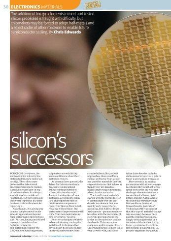 Silicon's successors