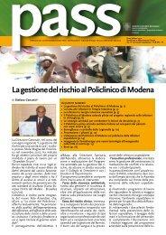 La gestione del rischio al Policlinico di Modena
