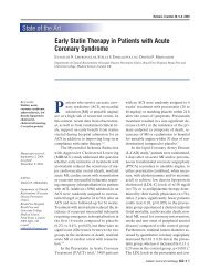 Early Statin Therapy in Patients with Acute Coronary Syndrome