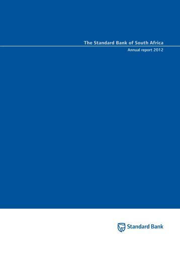 (SBSA) annual report - Annual integrated report 2012 - Standard Bank