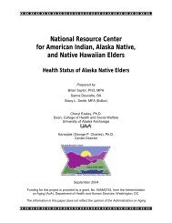 Health Status of Alaska Native Elders - National Resource Center for ...