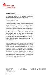 Ein besonderer Termin bei der Sparkasse Schweinfurt