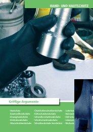 Arbeitsschutzkatalog Ausgabe 13 Kapitel Handschutz (PDF, ca. 7,5 ...
