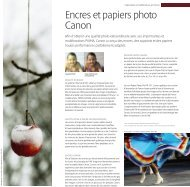 Encres et papiers photo Canon