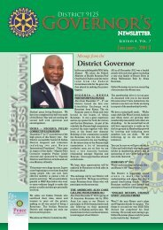 January, 2013 - Rotary District 9125