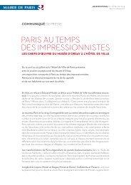 pArIs AU TeMps des IMpressIONNIsTes - Expositions