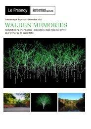 WALDEN MEMORIES - Expositions