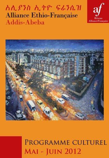 Programme de mai - juin 2012 - Alliance éthio-française d'Addis ...