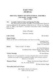 Minutes of the Thirty-Second General Assembly of the Presbyterian ...
