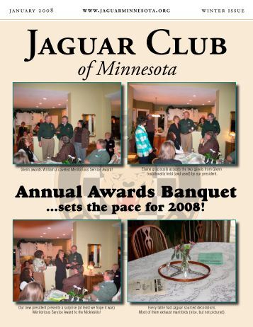 Winter Quarter Newsletter - January, 2008 - Jaguar Club of Minnesota