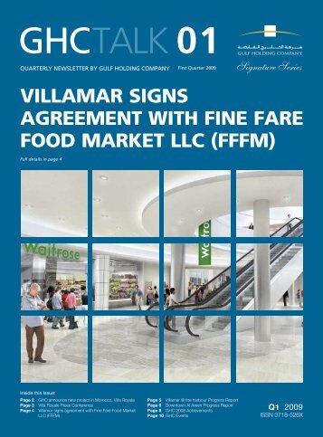 VILLAMAR SIGNS AGREEMENT WITH FINE FARE FOOD MARKET ...