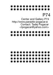 Center and Gallery P74 http://www.parasite ... - Sparwasser HQ