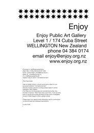 Enjoy Public Art Gallery Level 1 / 174 Cuba Street ... - Sparwasser HQ