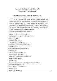 "Azienda Sanitaria Locale n. 3 ""Genovese"" Via Bertani 4 – 16125 ..."