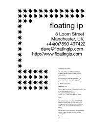 floating ip (Manchester, UK) - Sparwasser HQ