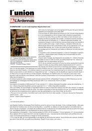 Page 1 sur 2 Copix Framework 17/10/2007 http ... - Champagne info