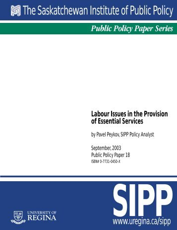 Labour Issues in the Provision of Essential Services - University of ...