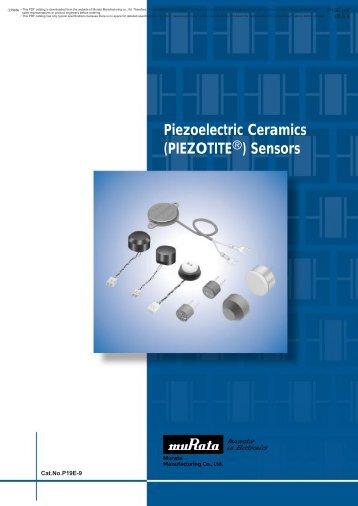 "Piezoelectric Ceramics (""PIEZOTITE"") Sensors"