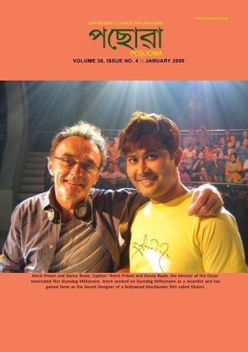 VOLUME 36, ISSUE NO. 4 :: JANUARY 2009 - Posoowa