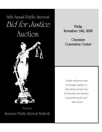 16th Annual Public Interest Bid for Justice - Syracuse University ...