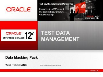 Test Data Management Pack