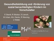 förderung von sozial benachteiligten Kindern im ... - DGSMP