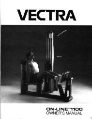DN-LINE®11OO OWNER'S MANUAL - Vectra Fitness