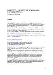 processo legislativo e democracia representativa - Assembleia ...