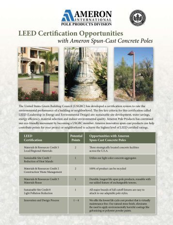 LEED Certification Opportunities   Architectural Lighting Associates .