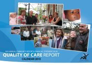 QUALITY OF CARE REPORT - North Yarra Community Health