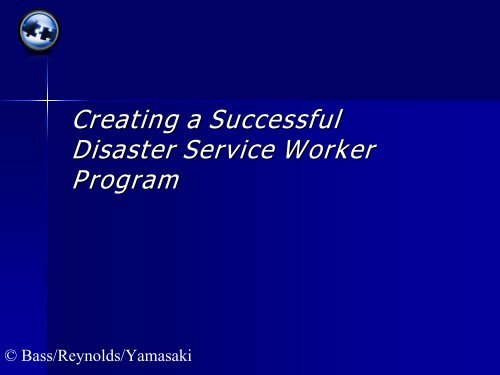 Who Is A Disaster Service Worker? - The 2012 Integrated Medical ...