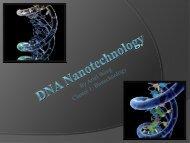 DNA Nanotechnology - COSMOS - UC Davis