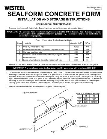 198823 SC SealForm INSTALLATION INSTRUCTIONS.pdf - Westeel