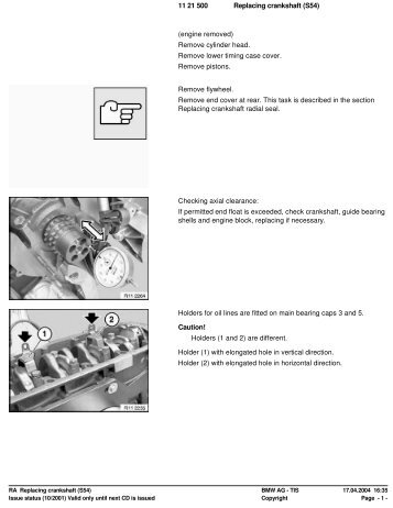 RA Replacing crankshaft (S54) - Ad Kusters