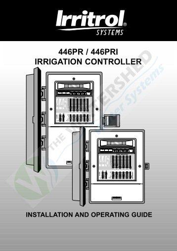 446PR / 446PRI IRRIGATION CONTROLLER - Thewatershed.biz