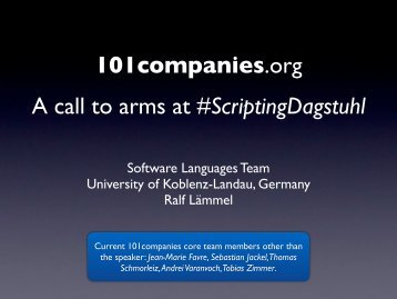 101companies.org A call to arms at #ScriptingDagstuhl - Index of