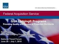GSA Lodging Programs - The Global Business Travel Association