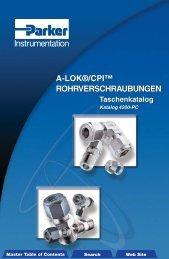 A-LOK®/CPI™ Rohrverschraubungen - Siebert Hydraulik & Pneumatik