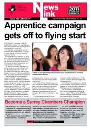 Apprentice campaign gets off to flying start - Surrey Chambers of ...