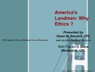 Why Ethics - Oklahoma City Association of Professional Landmen