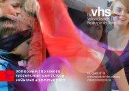 Programm für Kinder, Jugendliche und eltern Frühjahr • Sommer 2012