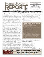 7/24 - Barrel Racing Report
