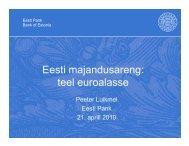 P.Luikmel. Eesti majandusareng - euro.eesti.ee