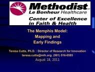 The Memphis Model - Methodist Healthcare
