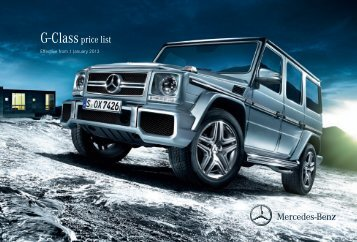 Download the G-Class price list - Mercedes-Benz UK